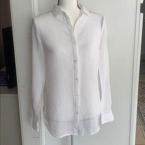 I. McLaughlin white button down blouse shirt XS